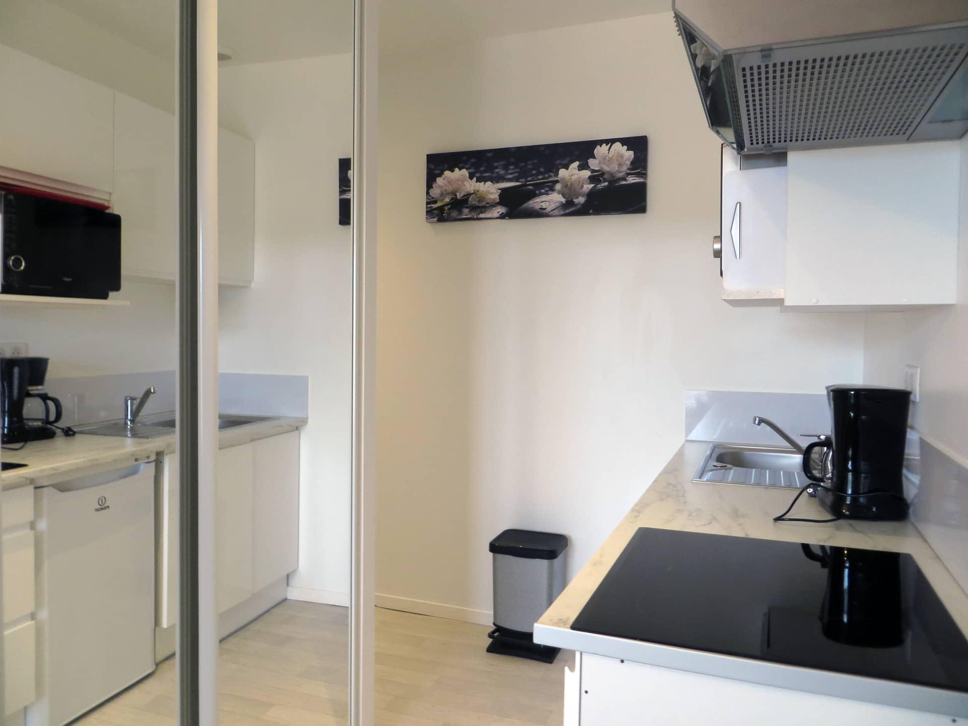 Cuisine d'un appart hôtel de charme dans le Gard