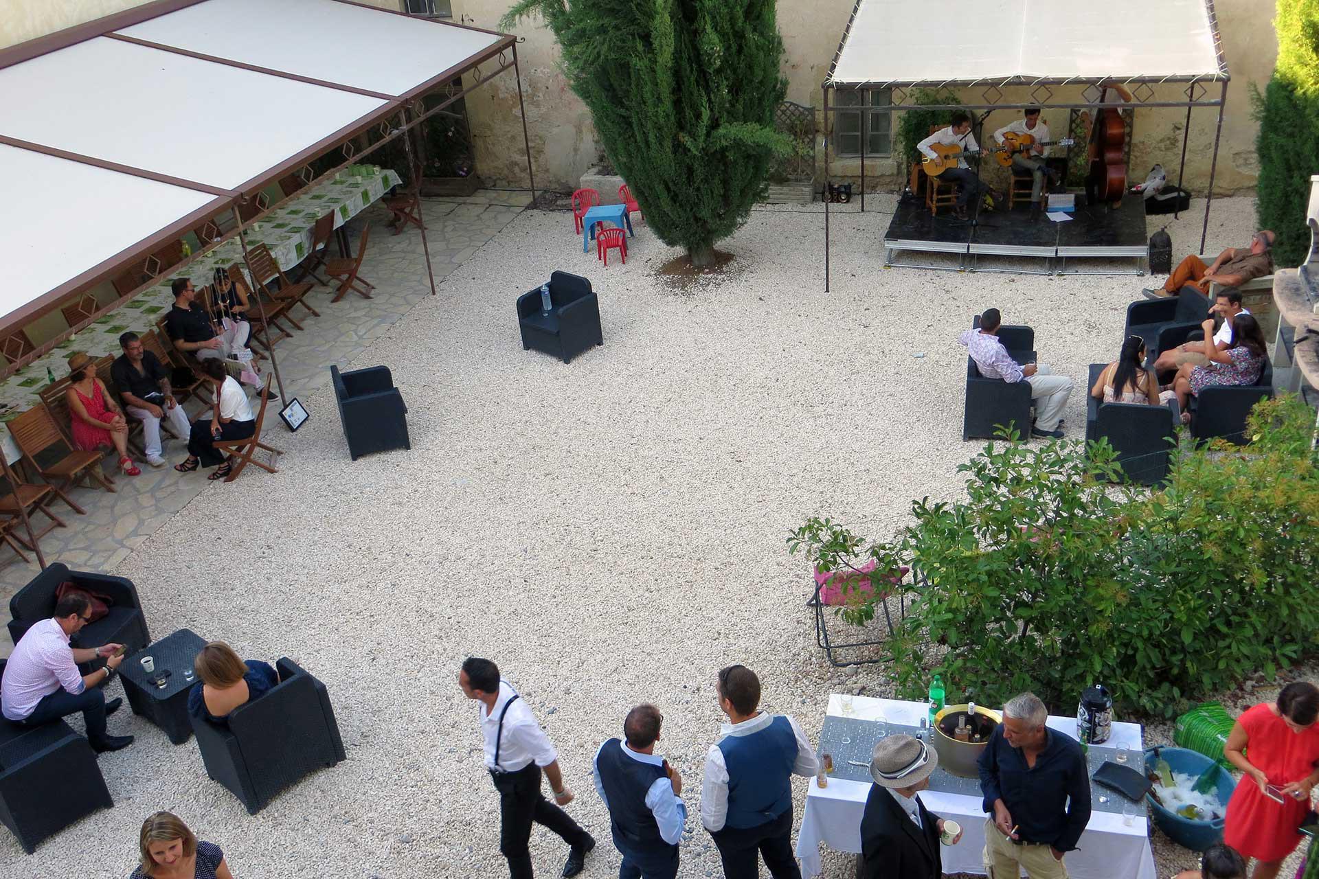 Réception extérieure Domaine de Christin