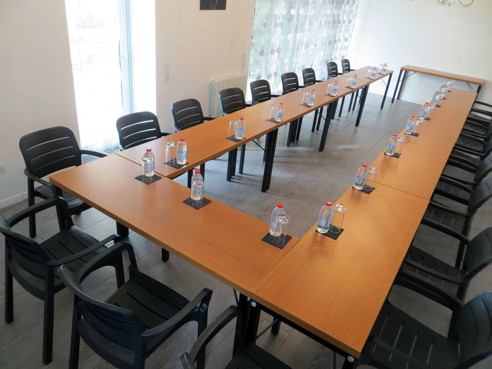 Configuration salle de réunion Domaine de Christin